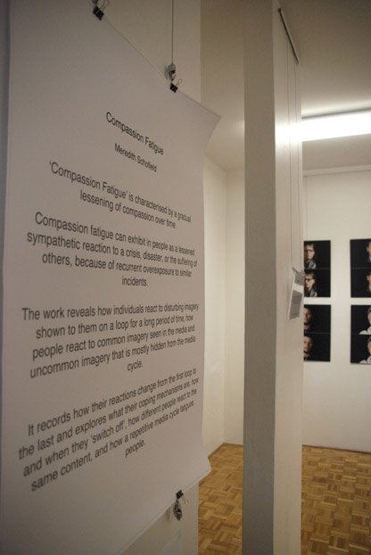 Compassion Fatigue exhibition opening